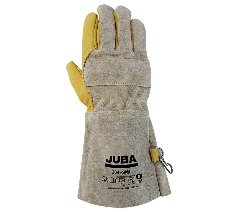 Guante Juba 204FSML JUBA 7/S Amarillo / Marrón (10 pares)