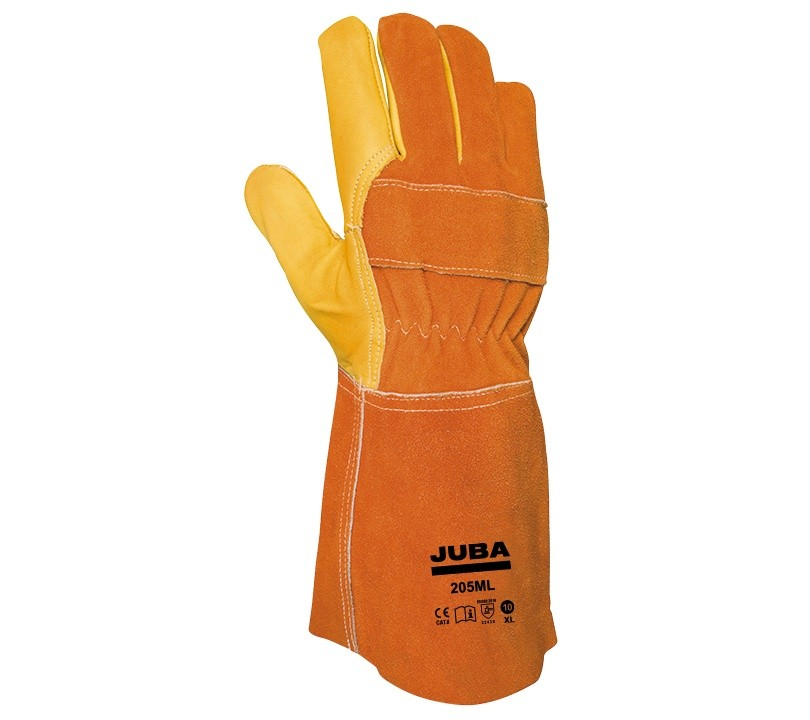 Guante Juba 205ML JUBA 10/XL Amarillo / Naranja (10 pares)