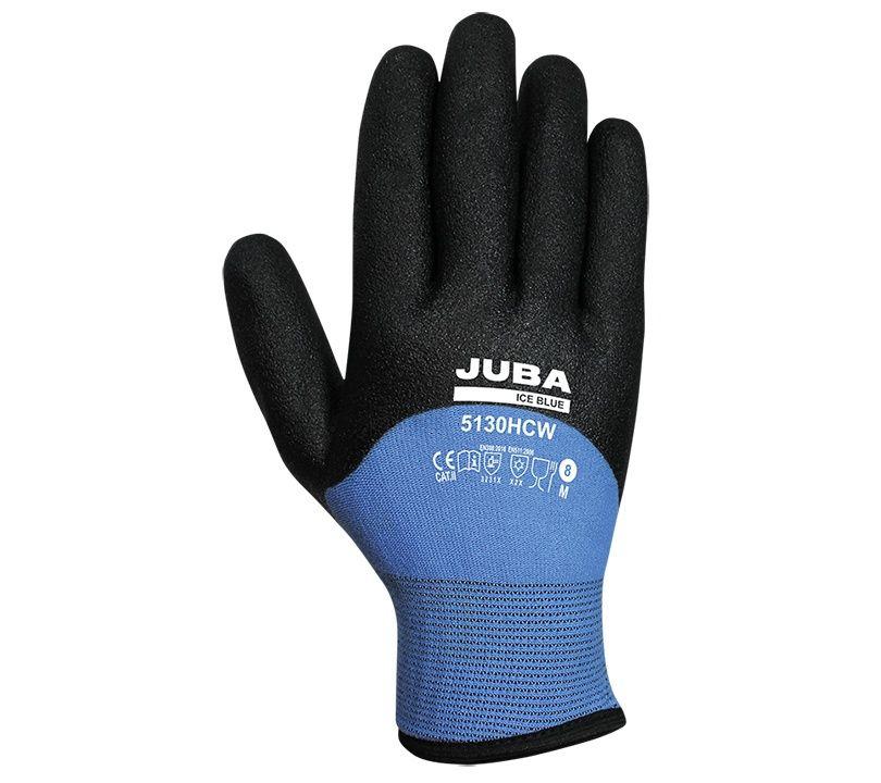 Guante Juba 5130HCW ICE BLUE 6/XS Negro / Azul (6 pares)