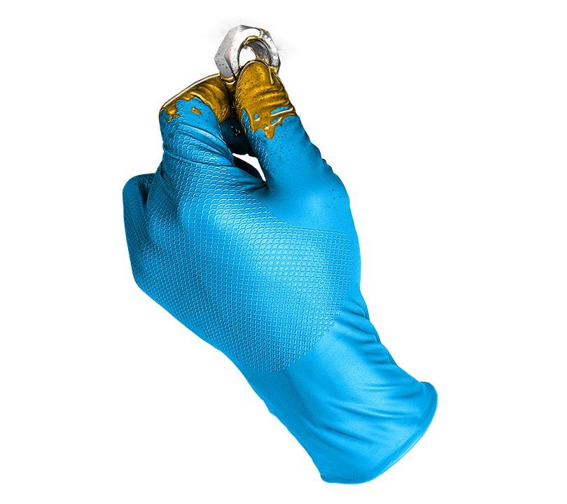 Guante GRIPPAZ® by JUBA® 580BL GRIPPAZ 7/S Azul (Caja 50 unid.)