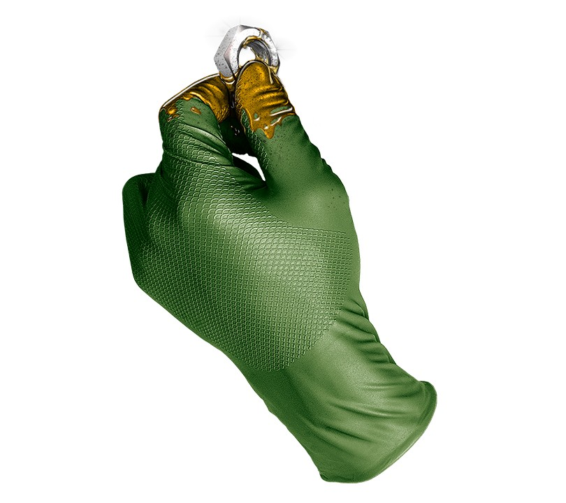 Guante GRIPPAZ® by JUBA® 580MG GRIPPAZ 7/S Verde (Caja 50 unid.)
