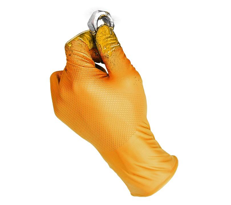 Guante GRIPPAZ® by JUBA® 580OR GRIPPAZ 7/S (Caja 50 unid.)