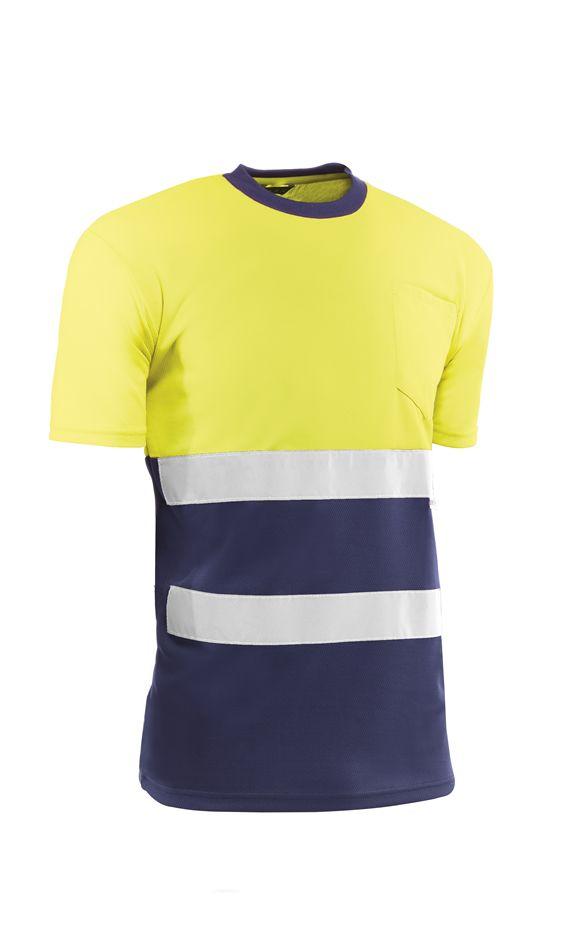 Camiseta HV721BCAZUL GALES S  Amarillo fluor/Azul (5 unid.)