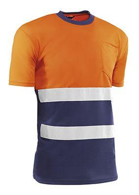 Camiseta HV731BCAZUL EIRE S  Naranja fluor/Azul (5 unid.)