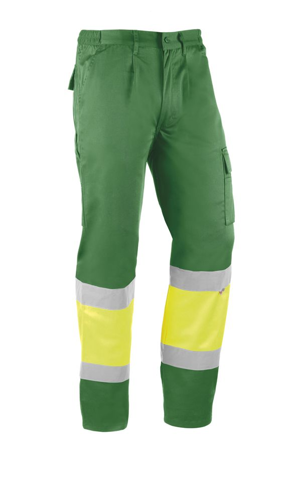 Pantalón HV814 ITAKA XS  Amarillo fluor/Verde (1 unid.)