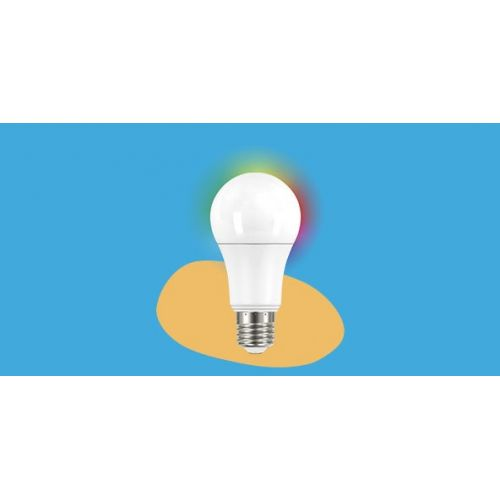 Bombilla WiFi Garza Estandar E27, 12W | 1060 Lúmenes, CCT + RGB, 1 ud