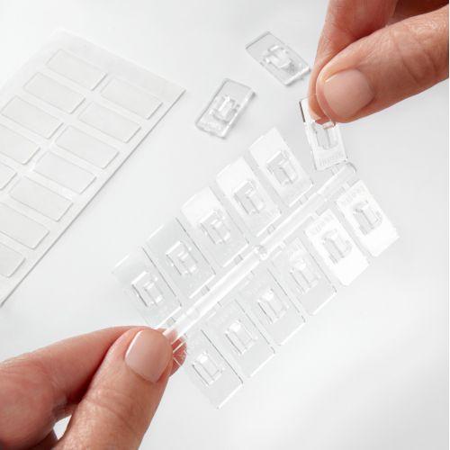 Mini ganchos adhesivos / transparente