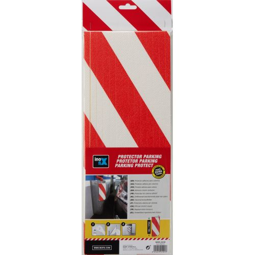 Protector parking para columna / rojo-blanco