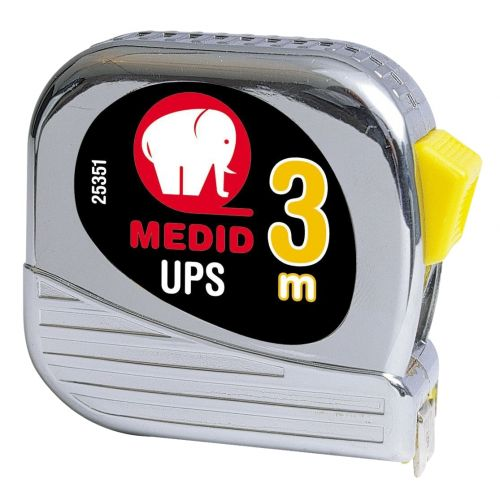 Flexómetro est cromado UPS + Nylon Coated