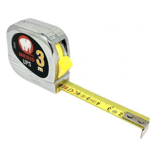 Flexómetro est cromado UPS + Nylon Coated 3mx16mm