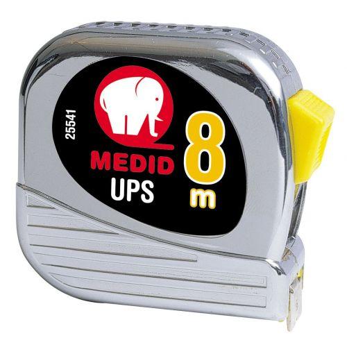 Flexómetro est cromado UPS + Nylon Coated 8mx25mm