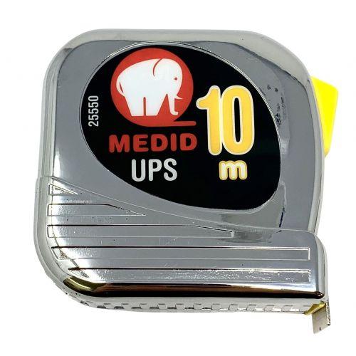 Flexómetro est cromado UPS + Nylon Coated 10mx25mm