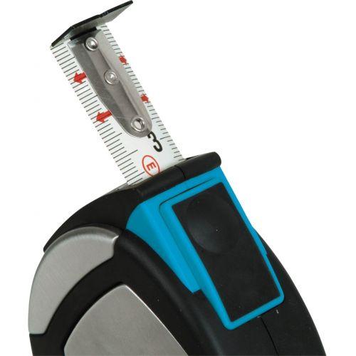 Flexómetro inox. estuche acero inox y elastollan 3mx19mm