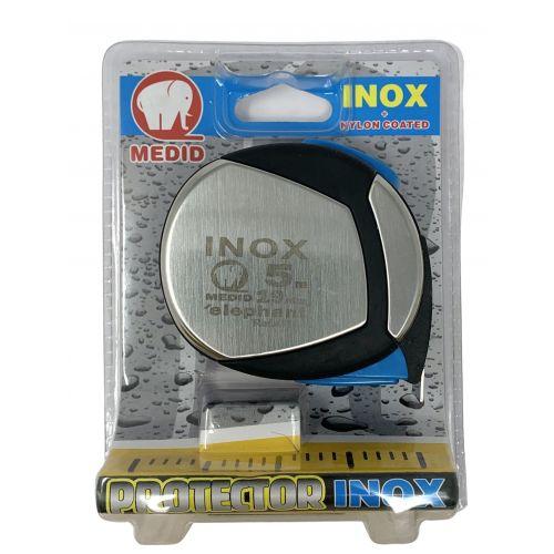 Flexómetro inox. con estuche acero y elastollan 5mx19mm