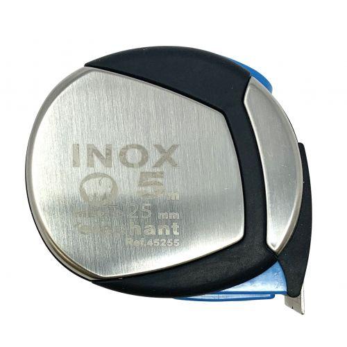 Flexómetro inox. con estuche acero y elastollan 5mx25mm