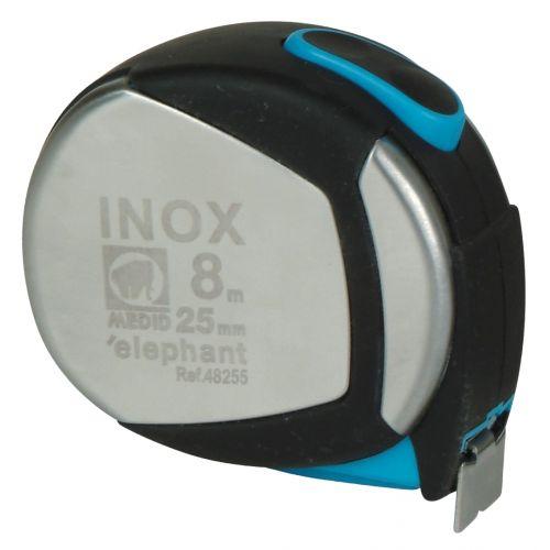 Flexómetro inox. con estuche acero y elastollan 8mx25mm
