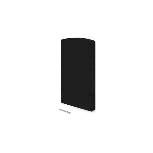 Emuca Suplemento lateral para colgador abatible, Plástico, Negro, 2 un