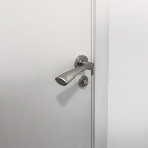 Emuca Juego de condena con roseta redonda para puertas de interior, diámetro 35 mm, zamak, níquel satinado, 5 un