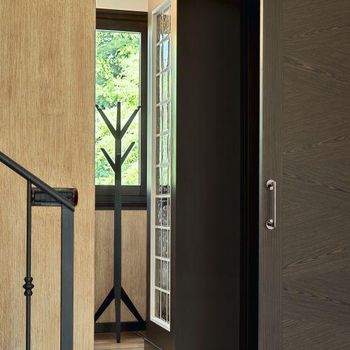 Emuca Tirador recto con rosetas de diámetro 50 mm para puertas correderas, Aluminio, Níquel satinado, 4 un.