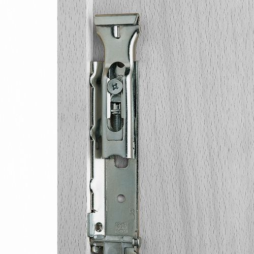Emuca Colgador oculto para módulos altos, con pletina, carga 65 Kg, Acero, Cincado, 2 ud.