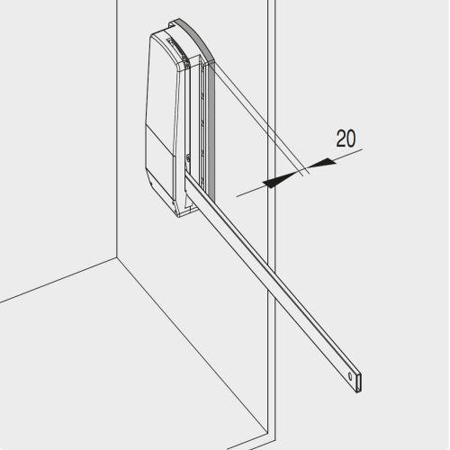 Emuca Suplemento lateral para colgador abatible, Plástico, Gris metalizado, 2 un
