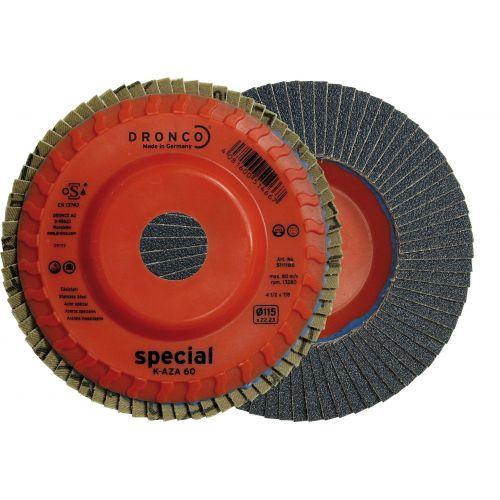 Disco de láminas abrasivas zirconio base plástico plana K-AZA