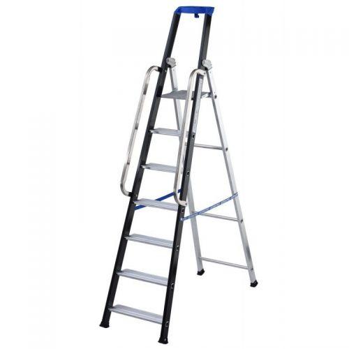 GIERRE AL756 - Escalera profesional de aluminio de tijera Stabila Pro (7 peldaños)