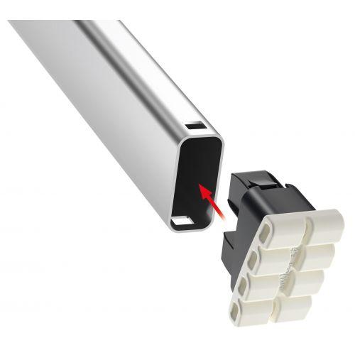 Escalera de tijera de aluminio con peldaño ancho XXL EasyClix FR