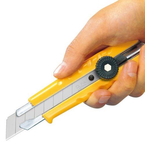 Cúter de bloqueo manual con mango ergonómico L-1