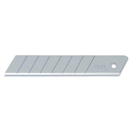 Pack de 10 cuchillas troceables 18 mm plateadas