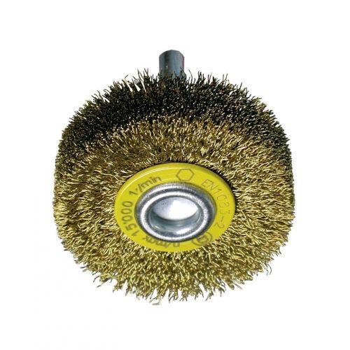 Cepillos circulares alambre ondulado - Vástago 6mm (Amoladora recta altas revoluciones)