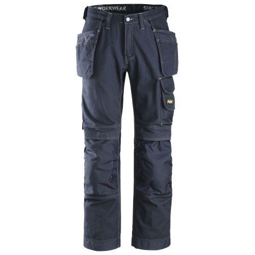 Pantalones largos de trabajo algodón Comfort bolsillos flotantes 3215