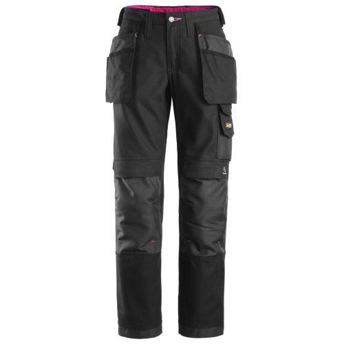 3714 Pantalón largo Canvas+ Mujer con bolsillos flotantes