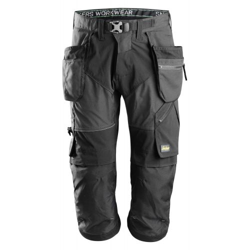 Pantalones pirata de trabajo FlexiWork+ bolsillos flotantes 6905