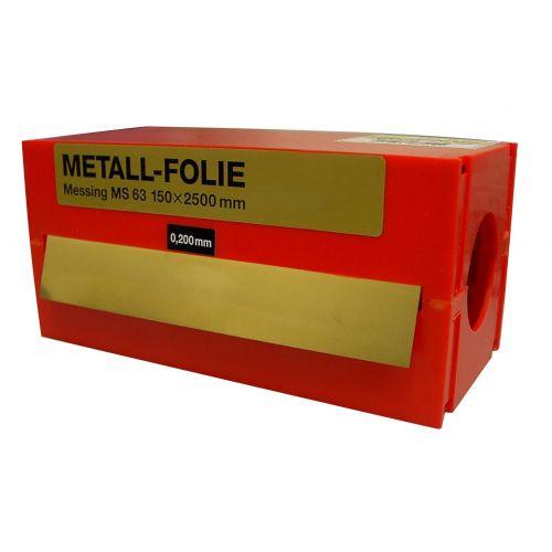 Rollo fleje calibrado 2,5 metros x 150 mm latón