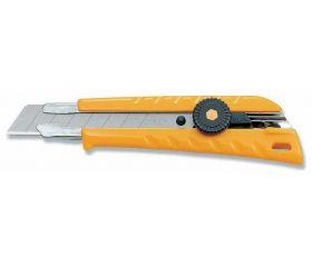 Cúter con bloqueo manual y cuchilla de 18 mm