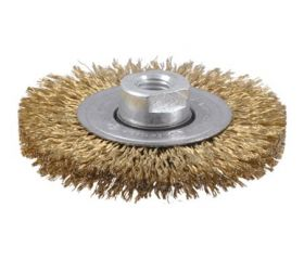 Cepillo circular de alambre ondulado con tuerca M14