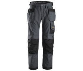 Pantalones largos de trabajo Canvas+ bolsillos flotantes 3214