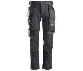 Pantalones largos de trabajo elásticos AllroundWork Slim Fit bolsillos flotantes 6241