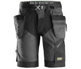 Pantalones cortos de trabajo FlexiWork+ bolsillos flotantes 6904 Negro