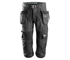 Pantalones pirata de trabajo FlexiWork+ bolsillos flotantes 6905 Negro