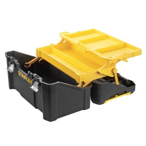 Caja de herramientas Cantilever Essential con cierres metálicos 19