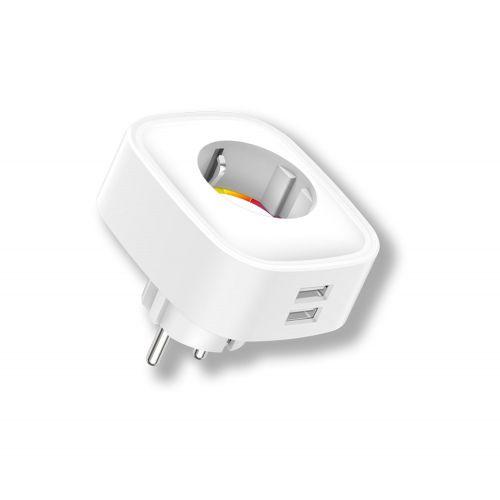 ENCHUFE WIFI C/MED CONSUM 2USB ENERGEEKS EG-EW005MC