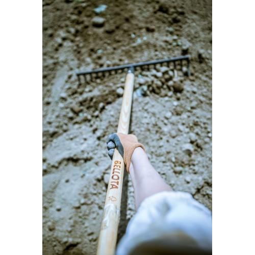 Rastrillo alta intensidad con dientes rectos y templados. Con mango, para preparar la tierra, limpiar, igualar y cubrir sembrados / 95514CML1500
