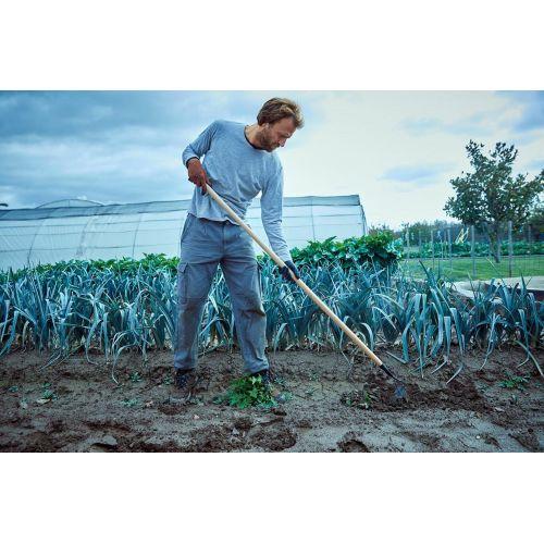 Azada Binadora, afilada para penetrar bien la tierra y cortar las malas hierbas. Mango largo de 1500mm / 3081CM