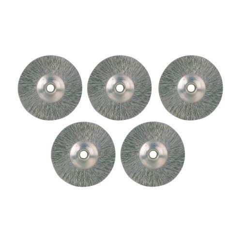 Juego de 5 cepillos inox en forma de rueda (22 mm)