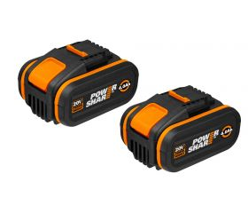 Worx WA3553.2 - 2 Baterías 20V (2x4Ah) POWERSHARE