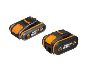 Worx WA3605 - 2 Baterías 20V (2Ah+4Ah) POWERSHARE